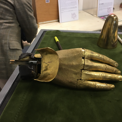 Jacques Monestier mechanical hand