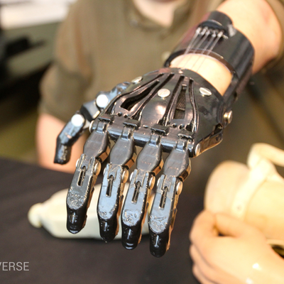 Jose Delgado - Cyborg Beast hand, printed in ABS and teated with acetone vapor smoothing